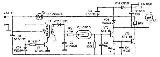 Самодельный дозиметр радиации: схема, как сделать